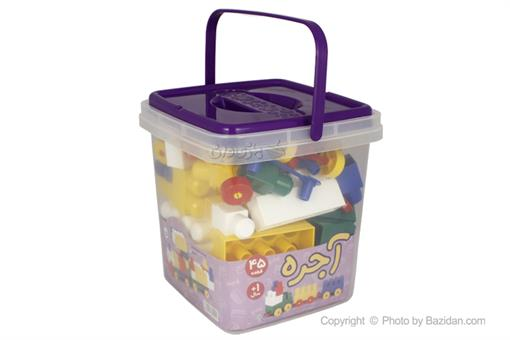 اسباب-بازی-آجره سطلی 45 قطعه