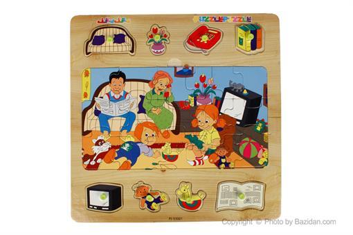 اسباب-بازی-جورچین پین دار طرح خانواده