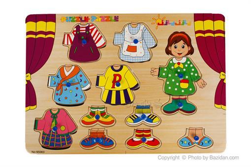 اسباب-بازی-جورچین لباس پین دار
