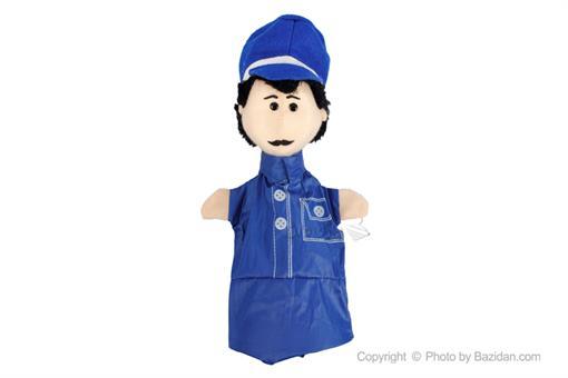 اسباب-بازی-عروسک نمایشی مرد لباس کلاه سورمه ای
