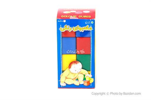 اسباب-بازی-مکعب رنگی بزرگ با فرزندان