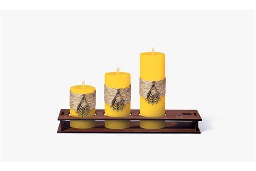 اسباب-بازی-ست کامل شمع استوانه قطر ٤ سانت طرح کنفی  کد٤٠٢